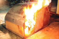 Cargo Container Fire